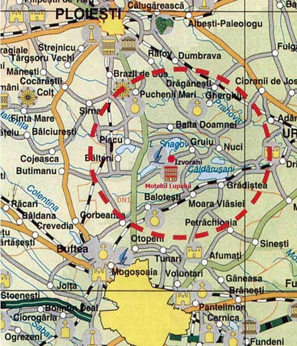 Harta Complex Motelul Lupului Localizare Si Acces La Complex