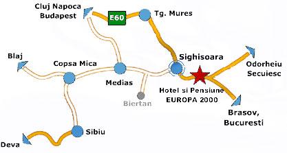 Harta Complex Europa 2000 Localizare Si Acces La Complex Europa