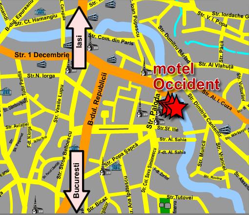 Harta Motel Occident Localizare Si Acces La Motel Occident