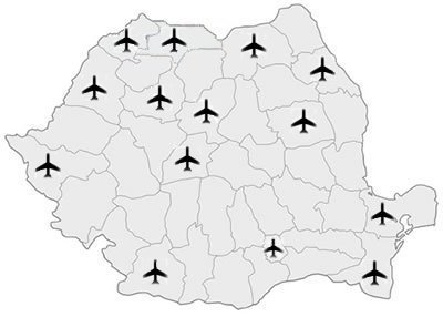 Harta Aeroporturi Romania